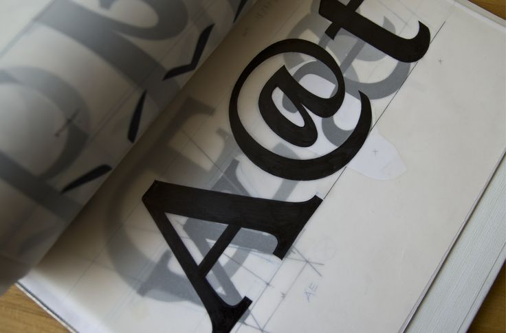 Typeface design | Drawings for digitization