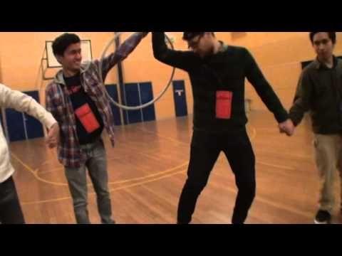 Hula hoop circuit game - YouTube