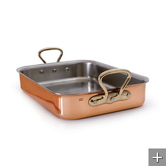 how to clean mauviel roasting pan