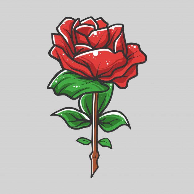 roses vector illustration rose flasche vektor freepik vektoren