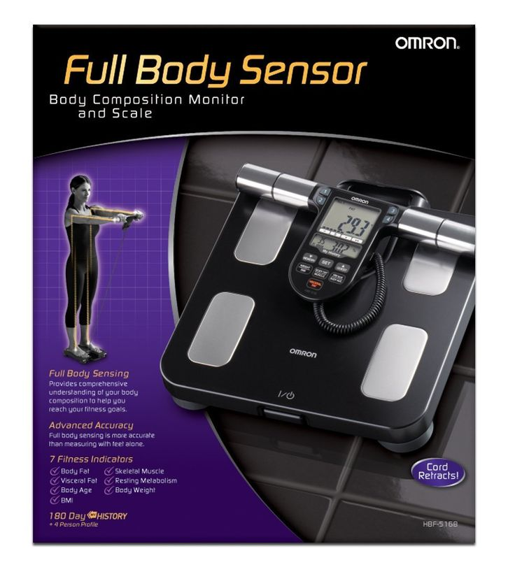 Omron Body Composition Monitor with Scale: Measures 7 different fitness indicators: body fat percentage, BMI, skeletal muscle, resting metabolism, visceral fat, body age, and weight. Accurately measures body fat percentage using proven bioelectrical impedance method