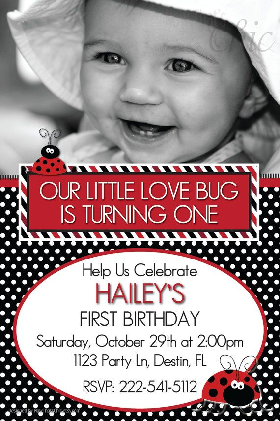 Our Little Love Bug is Turning One 1st Birthday  by nowthatschic, $13.00