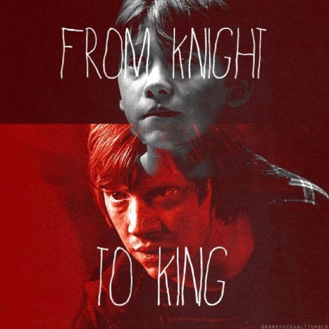 . From Knight to King, Ron Weasley. Harry Potter love.