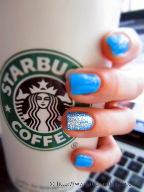 Blue nails for summer.