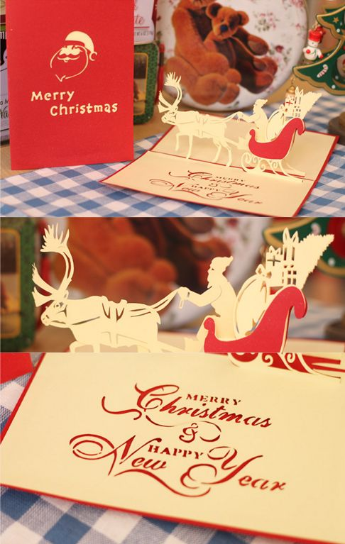 Christmas / X-mas pop up card