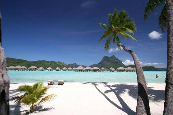 perfect white sand beach at Bora Bora Pearl Beach Resort & Spa