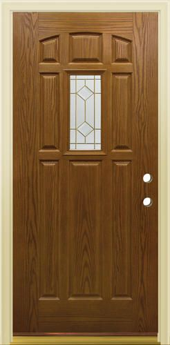 Mastercraft® CE-640 Early American Fiberglass Mini-Lite Prehung Exterior Door at Menards