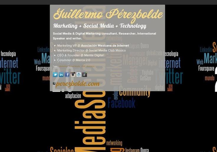 Guillermo  Pérezbolde's page on about.me – http://about.me/perezbolde