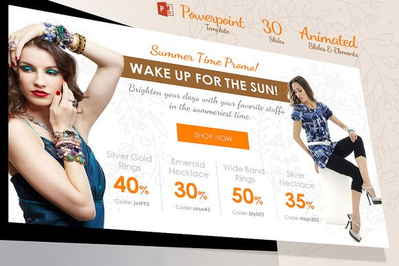 Clean Creative Fashion Powerpoint by Graphinterest on Creative Market