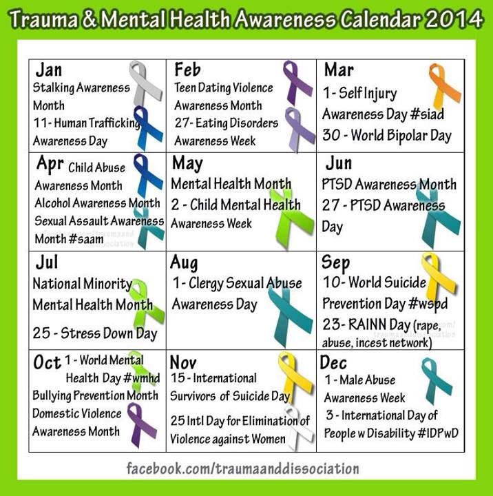 Mental Health Awareness Calendar
