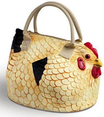 I so need a chicken purse!  Love it!