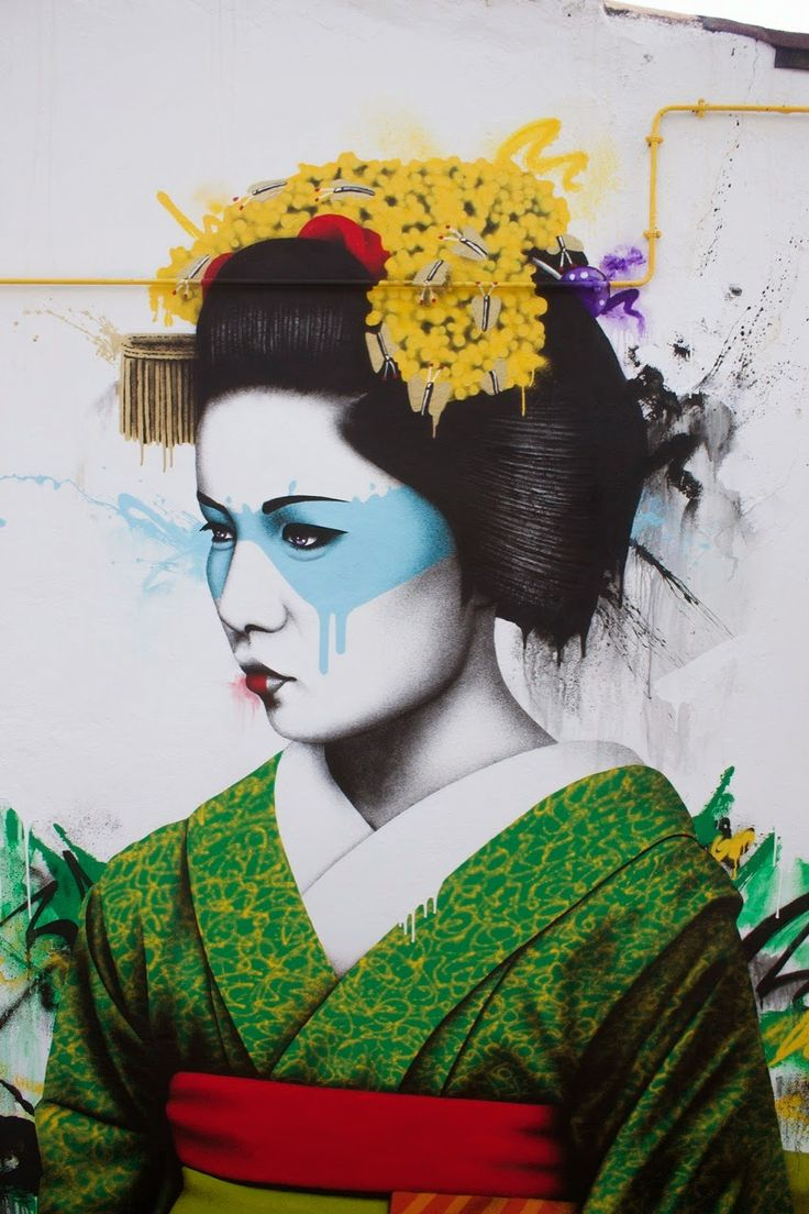 Fin DAC was invited to paint a mural for the Urban In Ibiza event (on the island of Ibiza in Spain), detail