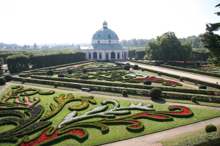 Flower garden, Kromeriz - Czech Republic
