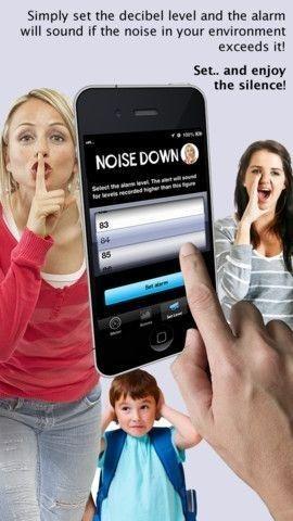 De app Noise Down laat automatisch een alarm afgaan wanneer de decibels de lucht in schieten. Handig voor de knutselles, techniekklas of groepswerk ...
