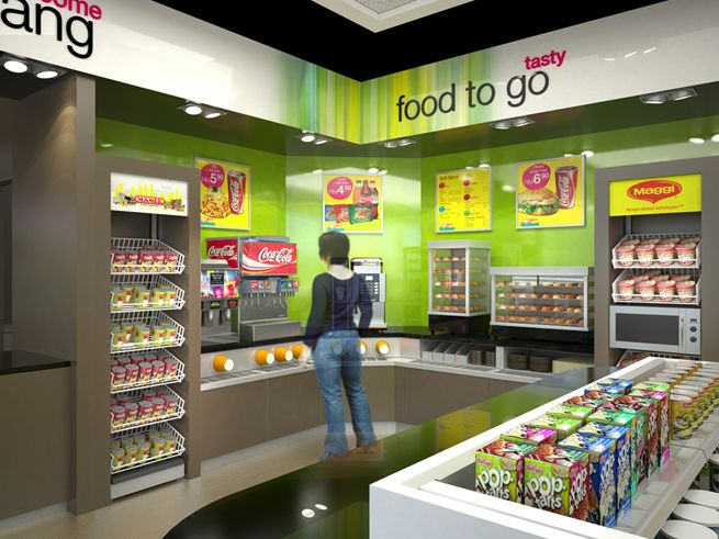 in after more than 10 years of sustained leadership in the malaysian market minale tattersfield won the pitch to evolve the retail brand and convenience - Convenience Store Design Ideas