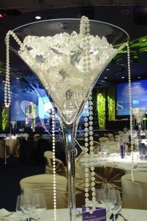 --GIRLS RETREAT--IN A VASE, not ALCOHOL GLASS cute centerpiece idea...DIAMONDs and Pearls