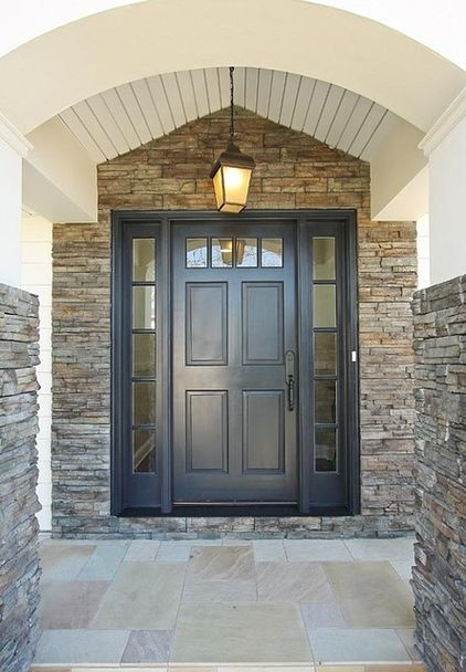 Front door color ideas: slate blue. A color that's just under black - darkest blue or green - has twice the resonance, like Georgian doors in London or Dublin.