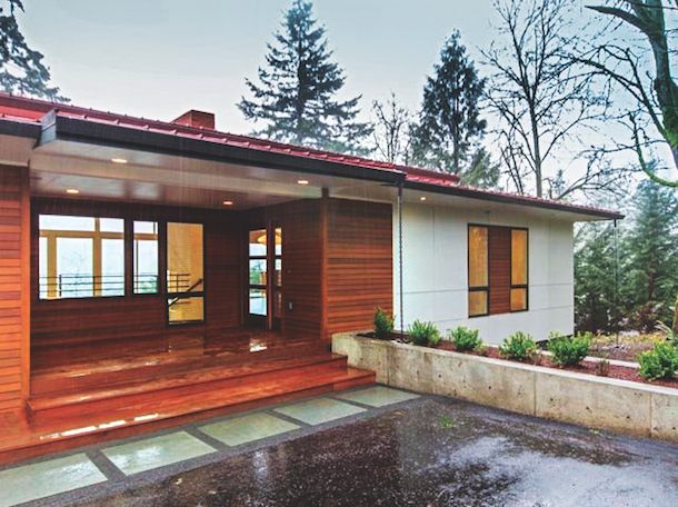 Ranch house made over from modest to modernist ranch house and contemporary