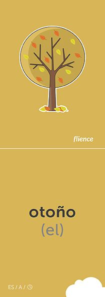 Otoño #CardFly #flience #time #spanish #education #flashcard #language