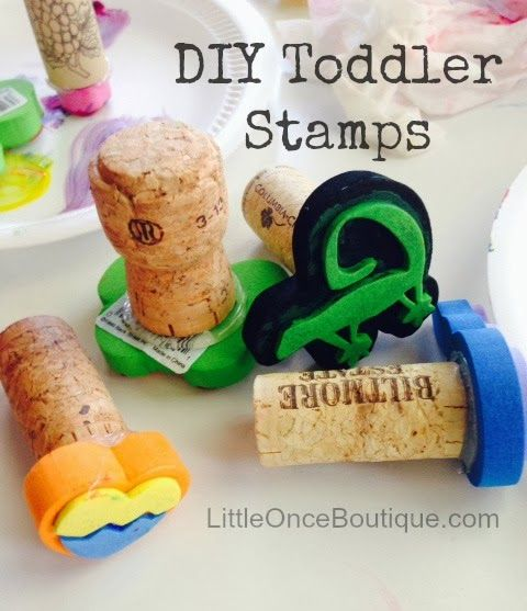 DIY Toddler Stamps with Recycled Wine Corks