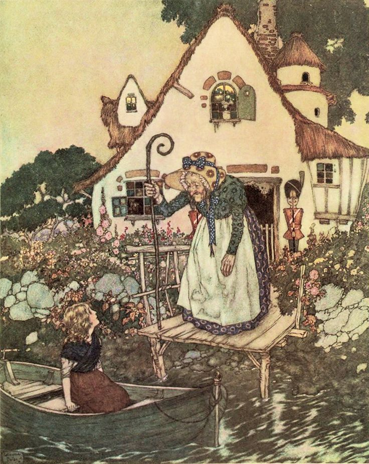 Story three: The garden of the woman learned in magic; The Snow Queen - Stories from Hans Andersen by Hans Christian Andersen, 1911