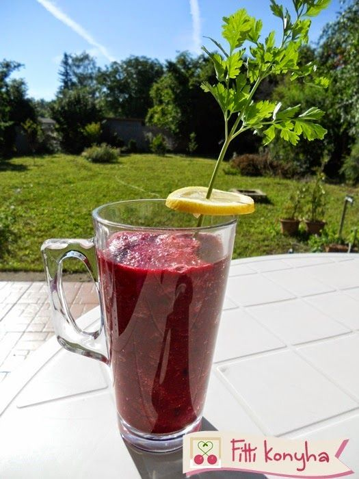 Fitti Konyha: Piros zöldségturmix recept paradicsomból, uborkából és céklából
