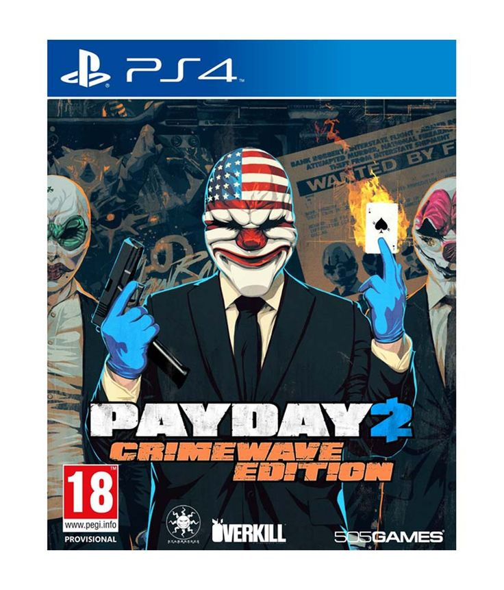 Payday 2 Crimewave Edition - PS4, http://www.snapdeal.com/product/payday-2-crimewave-edition-ps4/674275553145
