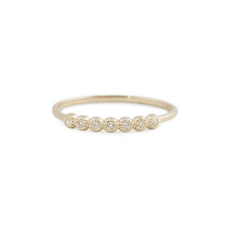 Dahlia Half Eternity Diamond Ring – Envero Jewelry