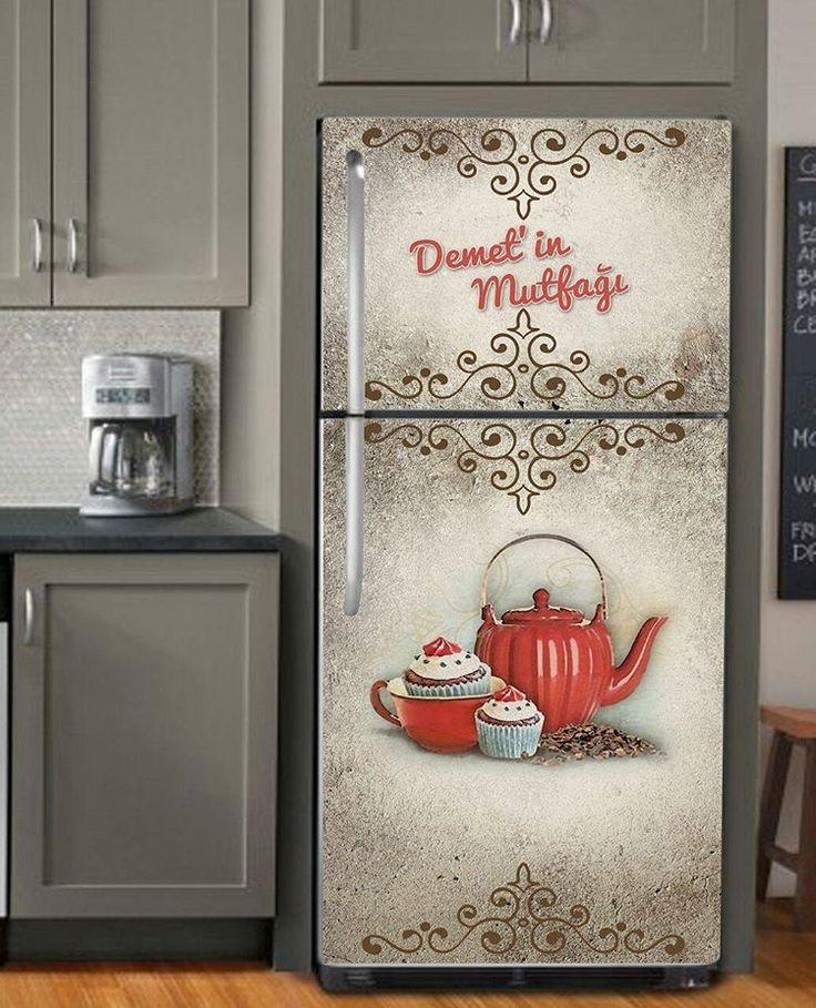 Musmutlu haftasonlari☺ Biz güne yeni bir tasarimla erkenden basladik😄 Buzdolabı folyosu 35 tl olcuye göre yapıyorum lütfen watsaptan veya dm den görüşelim