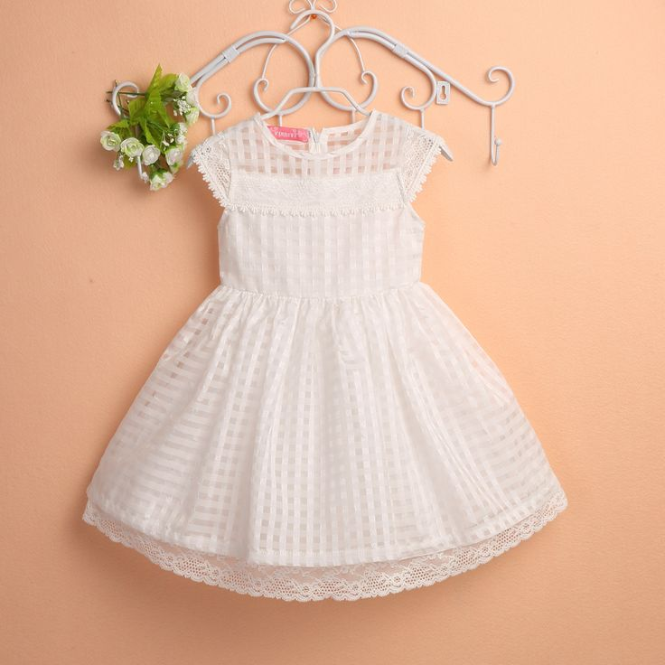 toddler chiffon white dress casual children lace kids dress for ...