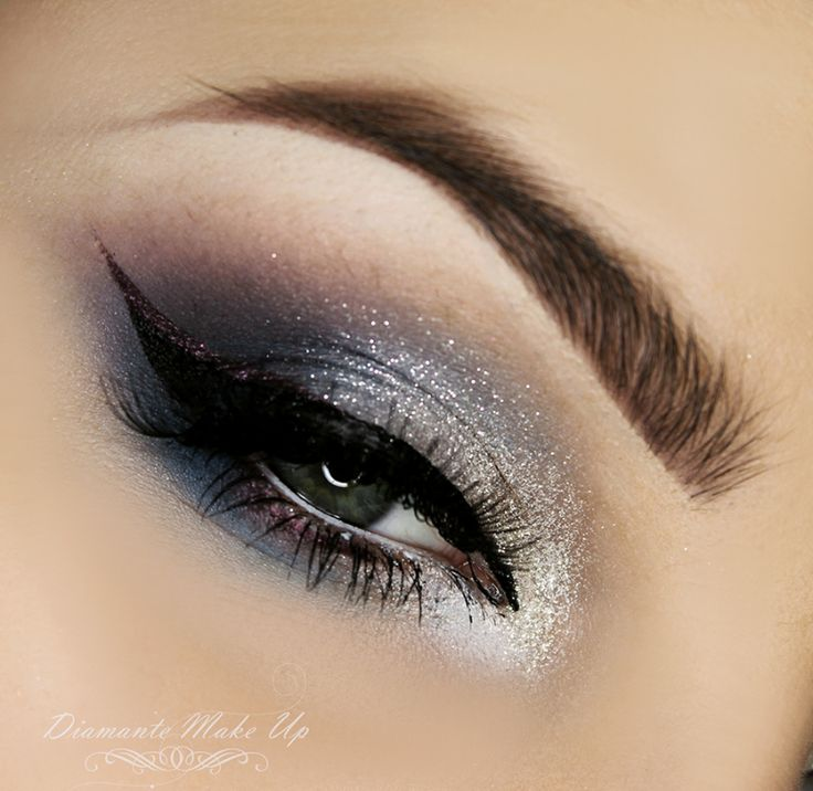 'Party Time' look by Diamante Make Up using Makeup Geek's Burlesque and Drama Queen.