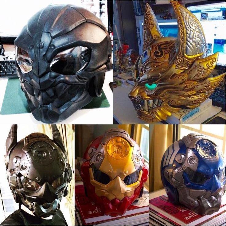 My 3D Print helmet Art Work helmets :) https://www.facebook.com/Arton3D/