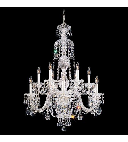 Schonbek sterling 12 light chandelier in silver and clear heritage