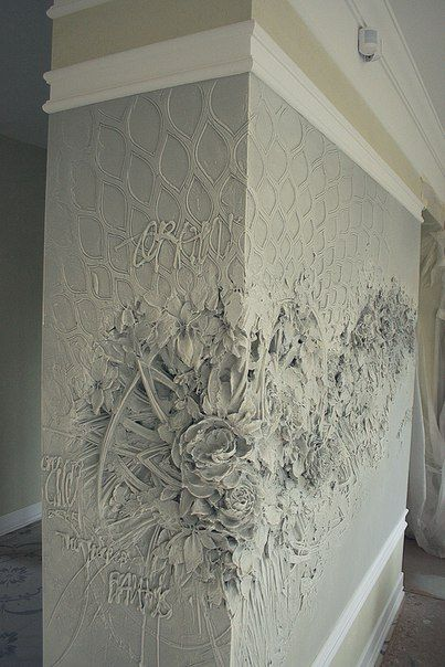 Pin by metamorfoza painted furniture on walls pinterest for Plaster crafts to paint