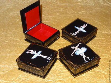 """шкатулки для украшений """"Балет"""" - чёрно-белый,шкатулка,шкатулка для украшений"""