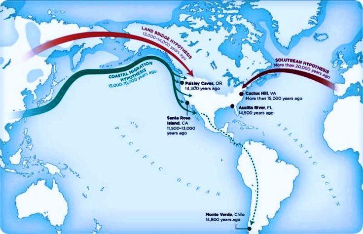 Uno de los grupos siguió un recorrido por la costa del Pacífico ya sin hielo mientras que el otro grupo tomó un corredor de tierra abierto entre dos placas de hielo que les llevó a la región oriental de las Montañas Rocosas.