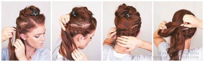 Romantic Boho Lace Braid Up-Do : Hair Tutorial - #Boho #Braid #Hair #Lace #Roman...   - Hair Styles -