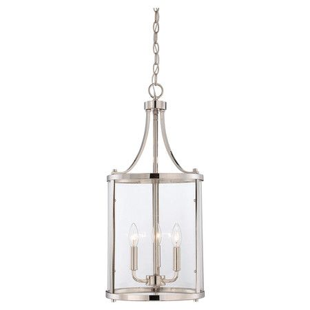 Searching for a pendant light for our big entry to march our kitchen pendants. This polished nickel three light pendant is quite beautiful.