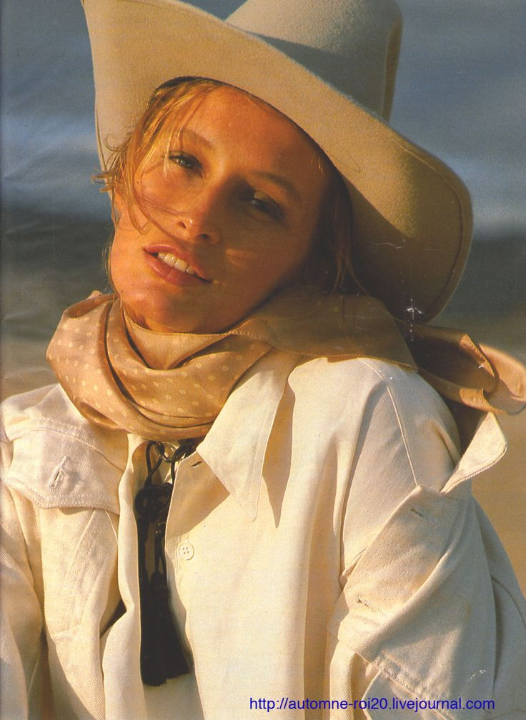 Estelle Lefebure by Marc Hispard - Elle France February 1988: