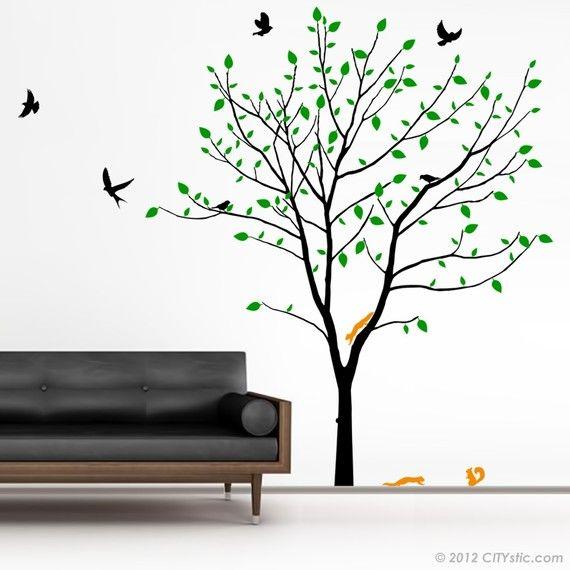 1000 id es sur le th me stickers muraux arbre sur for Autocollant mural arbre