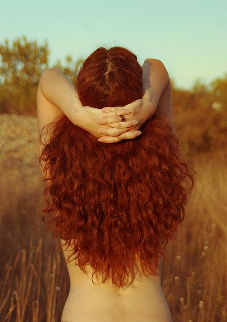 beautiful red curly hair