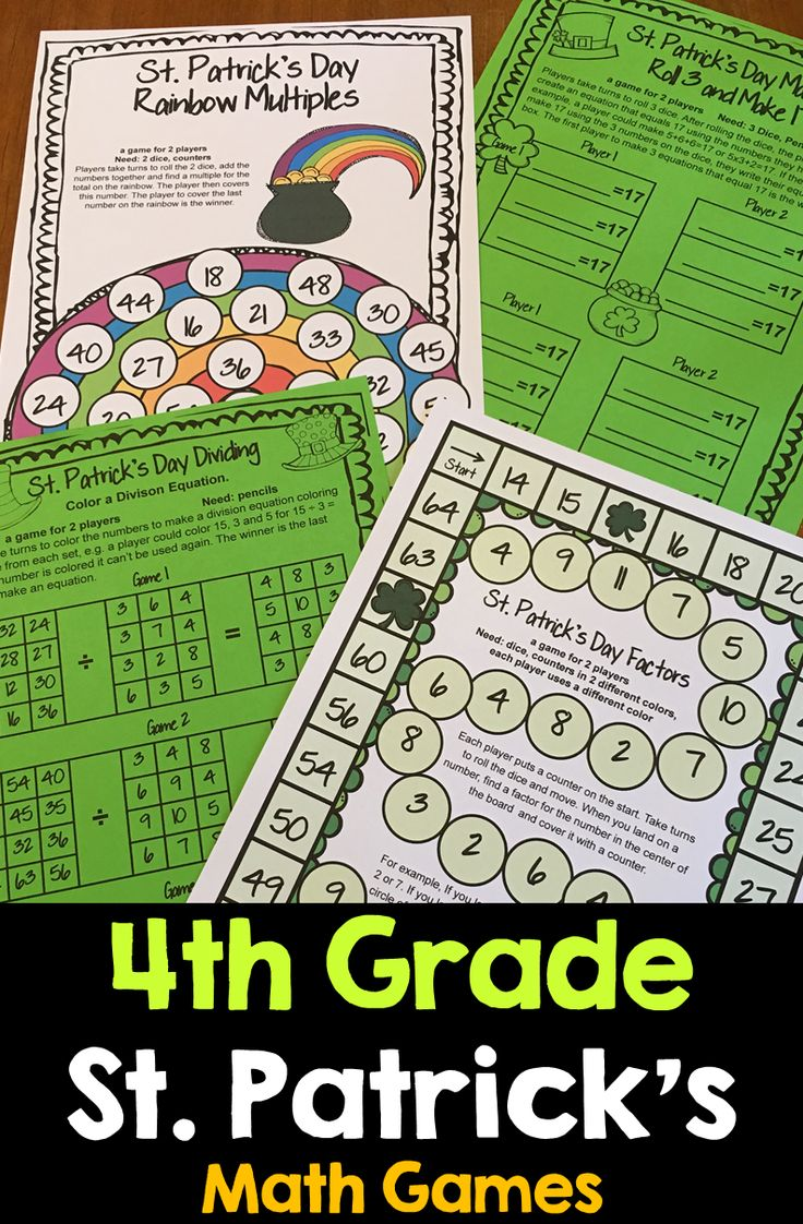 4th grade math review games