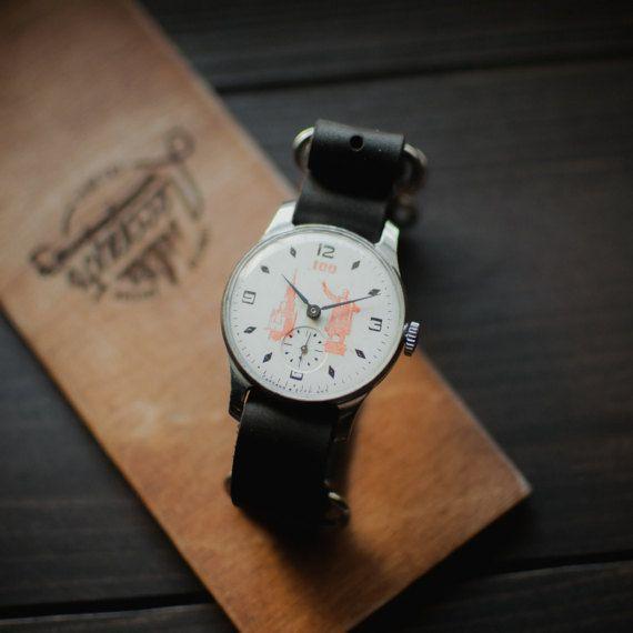 Rare white wrist watch Pobeda 100 Years of the Lenin Birth, USSR watch 1970 release, Kremlin watch, mechanical watches