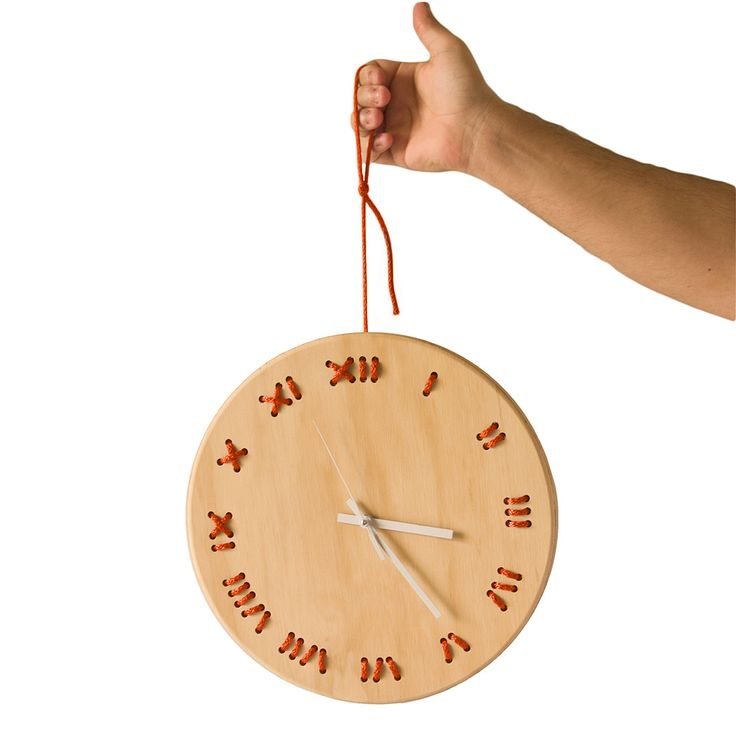 Buy STITCHED Wall Clock on CROWDYHOUSE