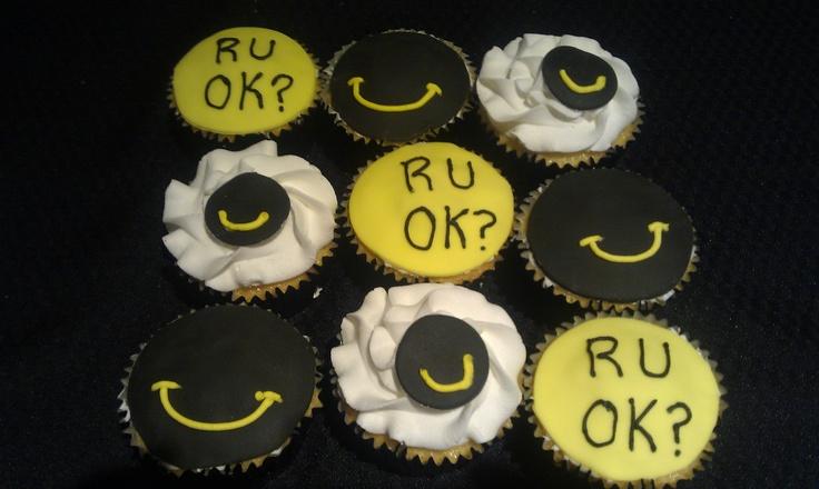 RUOK Day cupcakes
