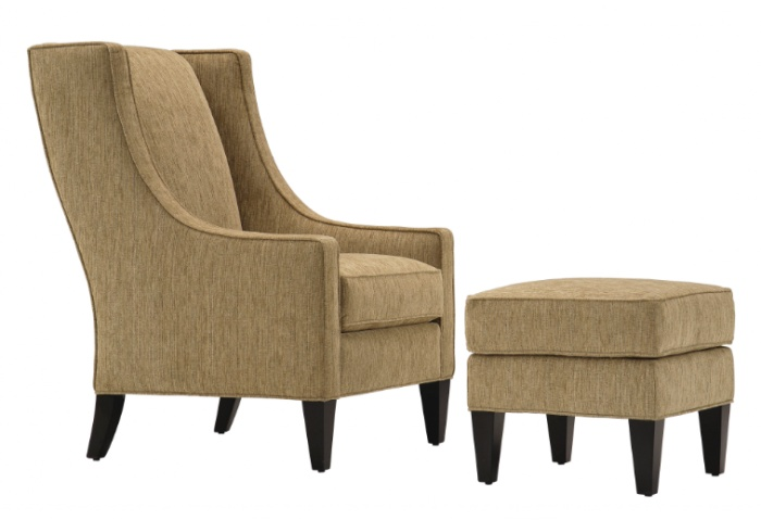 soft green armchairs