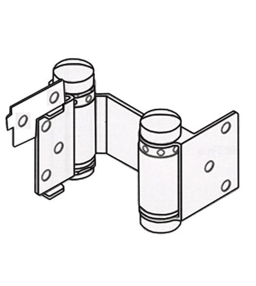 Double Action Hinge with Hold Open - 3 Inch Light Duty - Multiple Finishes - 2 Pack