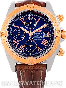 Breitling Chronomat Evolution Steel and Rose Gold Watch C13356