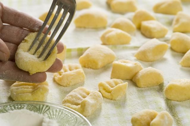Gnocchi are Italian-style dumplings made of potatoes and flour. You can serve gnocchi with any of your favorite pasta sauces. Here's an easy gnocchi recipe.