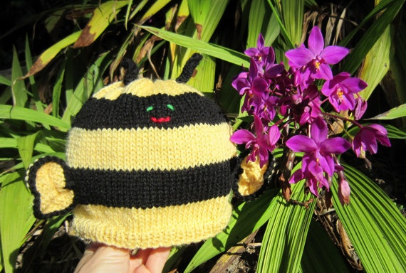Bumblebee hat beanie soft pure wool children's by HotScones, $44.00